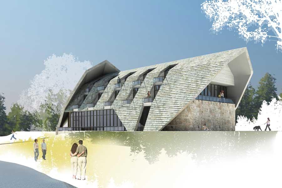 Dja spa building for Spa construction